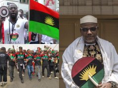 Anti Biafra Protesters storm UK High Commioner's office