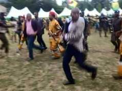 Anambra Election: Willie Obiano chased away from campaign ground by angry youths