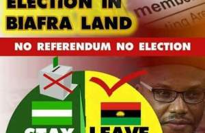 Anambra Election: Igbos say No to election in Biafra land
