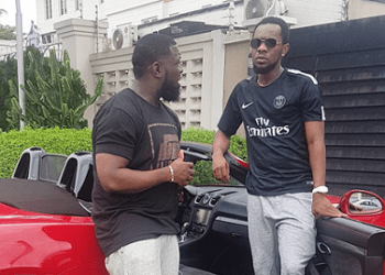PATORANKING show off his new ride as he visits Timaya