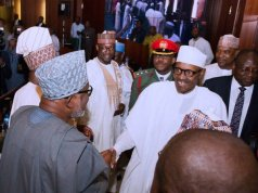 Buhari meets with state governors in Aso Rock