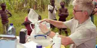Ian Squire providing free medical care and religious activities in the Burutu area of Delta State. Mail photo
