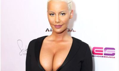 Wow! Amber Rose show off her smaller boobs after reduction surgery ( See Photos)