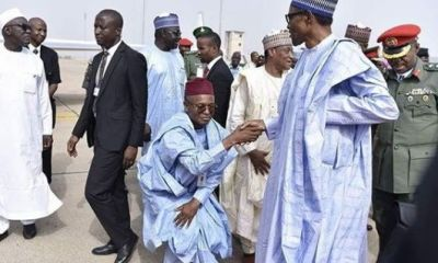 Earlier today, President Muhammadu Buhari was in Kaduna State for the induction of Nigerian Air Force TSAIGUMI class Unmanned Ariel Vehicle (UAV). The president was received by the state governor, Nasir El-Rufai who respectfully greeted him as the President inspected a Made-in-Nigeria surveillance aircraft project called NAFSA Eagle, developed by Air Force Institute of Technology Kaduna.