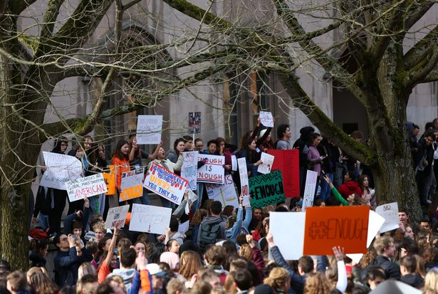 School walkouts across US as frightened students demand gun reform