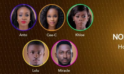 BBNaija 2018: Housemates on eviction this week