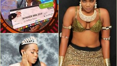 BBNaija 2018: Miss Nollywood Nigeria 2018 goes on pant and bra to celebrate Miracle - Photos