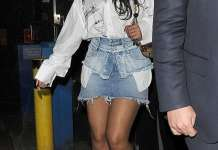 Rihanna looks leggy in a thigh-grazing miniskirt as she parties in Mayfair during another covert stay in London