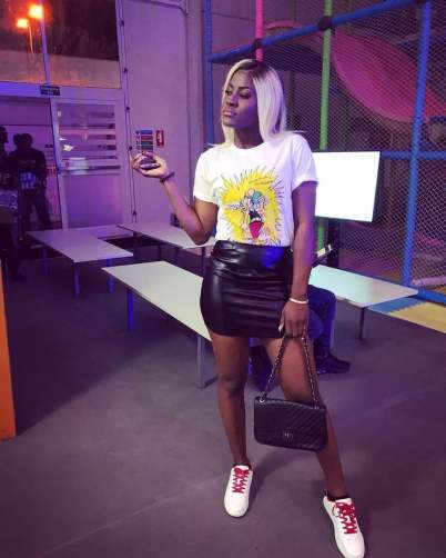BBNaija Alex look super-sexy as she rocks cropped mini skirt - Photo
