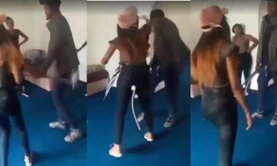 Lady Slaps & Flogs Her Boyfriend Because He Impregnated Another Woman
