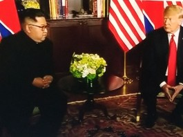 Breaking News: Donald Trump and Kim Jong Un meet for their summit in Singapore