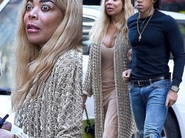 Hilarious! Wendy Williams looks extremely startled during outing with her son Kevin in NYC (Photos)