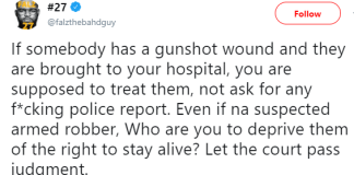 Falz reacts to NYSC member who died yesterday after Garki hospital refused treating the gunshot wounds she sustained from a trigger-happy SARS officer