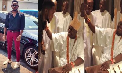 BBNaija Miracle Pays Ooni of Ife Courtesy Visit (Photos/Video)