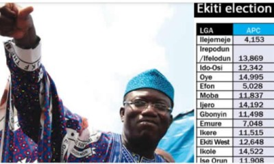 Final Results: Fayemi wins Ekiti Governorship election