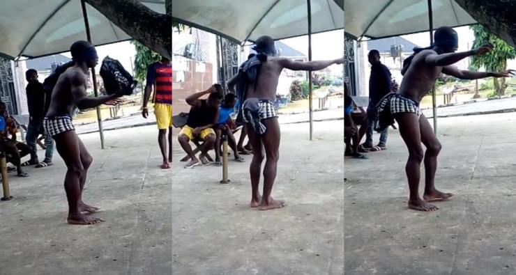 Niger Delta University Student Caught Stealing, Made To Dance For Hours (Video)