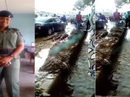 Nigerian female soldier dehumanises two men for scratching her car in Lagos (Video)