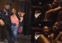 Watch the moment Davido shouted out his girlfriend's name after a lady rushed at him