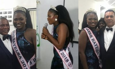 Queen Freda Fred Bruce, Miss Bayelsa 2018 speaks at a dinner in Yenagoa
