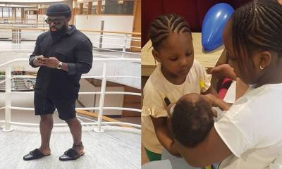 """Finally!!! """"I am done making babies"""" – Timaya says as he shares cute photo of his three children"""