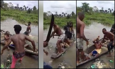 Angry youths attacked dreaded armed robber with cutlass, axe in Bayelsa - Video
