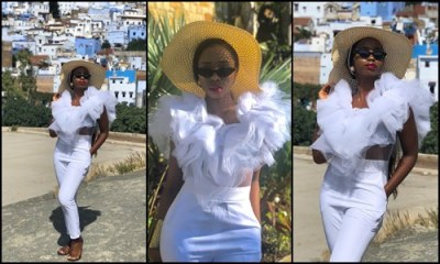 BamBam rocks it white on her Morocco trip