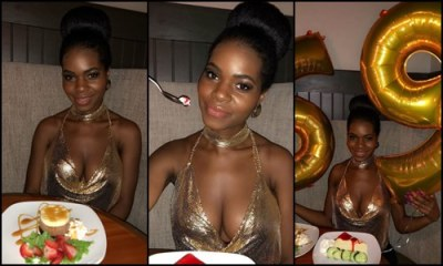 Princess Vitarah shares a very cleavage baring photos to mark her 21st birthday