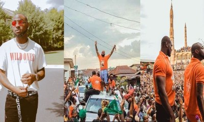 Music star Davido reportedly escapes gun shot attack during rally in Osun state