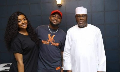 Davido and Chioma meet Atiku Abubakar in Abuja (Photo)