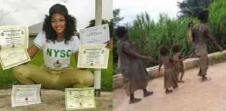 Wow! Meet the pretty female Corper who became sensational in Cross River (Photos)