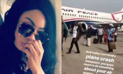 BBNaija Nina thanks God after surviving a near plane crash on her way to Owerri (Video)