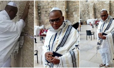 Biafra: Nnamdi Kanu resurfaces in Jerusalem praying (Photos/Video)