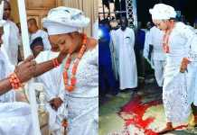 """Trending: Ooni Of Ife's Wife Stepped On """"Osùn"""", Not Blood (Photo)"""