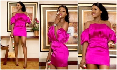 Alex goes braless as she steps out for breast cancer campaign treatment (Photos)