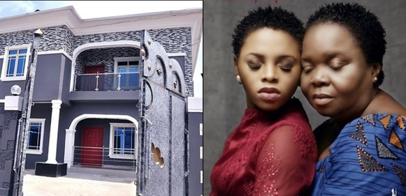 Chidinma Ekile Builds A Beautiful House For Her Mother As A 60th Birthday Gift