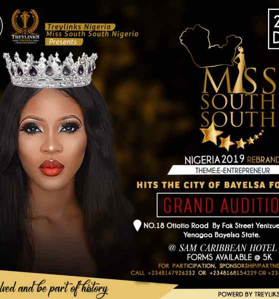 Miss South South Nigeria 2019 - Bayelsa Audition