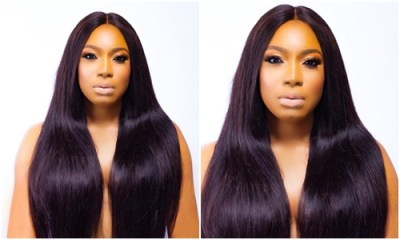 Nollywood Actress Chika Ike goes topless to celebrate 33rd birthday