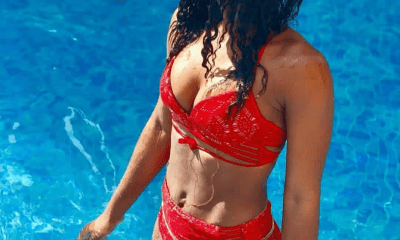 Alex blows hot as she goes viral on red bikini (Photos)