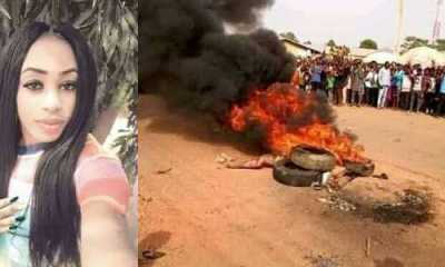 Suspected female thief burnt to death in Cross Rivers (See Photos)