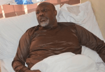 Video: Watch Dino Melaye speaks from his hospital bed