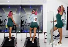 BBNaija Update 2019: Alex puts up a steam display during gym