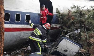 Military cargo plane crashes in Iran killing at least 15 people