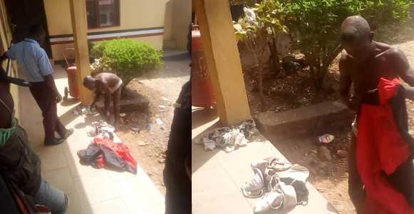 Man caught with female pants, bra and soaked sanitary pad in Ondo (photos)