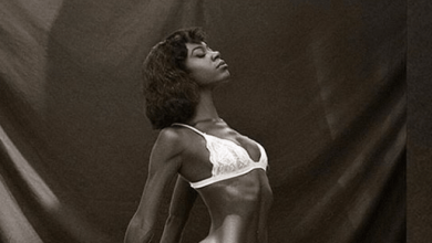 Swimsuit model Michelle Okoro goes pantless in new raunchy photo