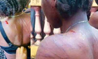 Man mercilessly flogs his wife for sleeping with a neighbour (Photos)