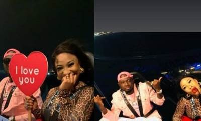 I Love You' – Tonto Dikeh Flaunts Lover As She Goes On A Romantic Dinner With Him(Photos)