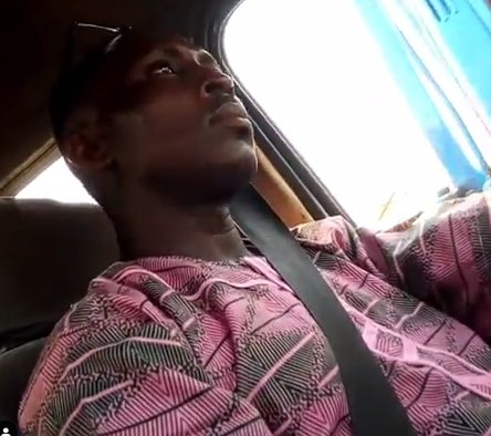 Commercial bus driver in Lagos caught on camera masturbating.