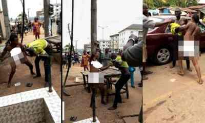 Lady strips to beat man over money for short time in Anambra