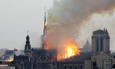 Paris Fire Outbreak: Notre Dame Cathedral on fire 3