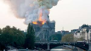 Paris Fire Outbreak: Notre Dame Cathedral on fire